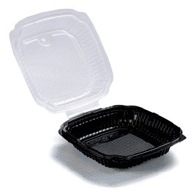 CONTAINERS PLASTIC BLACK & CLEAR